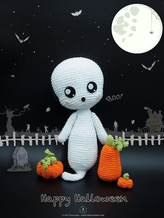 Amigurumi Patrón: Fantasma Boo! | Fantasmas, Patrones y Ganchillo