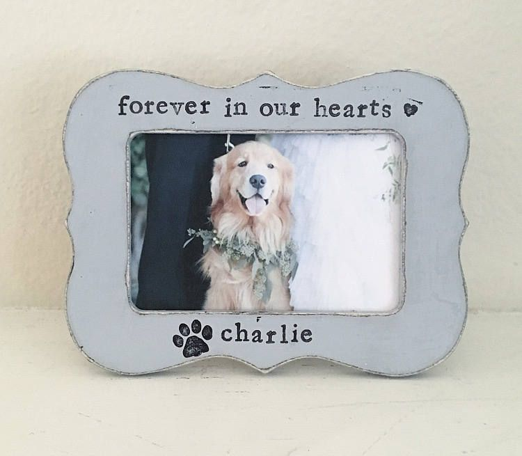 Dog picture frame, pet loss, pet memorial frame, personalized ...