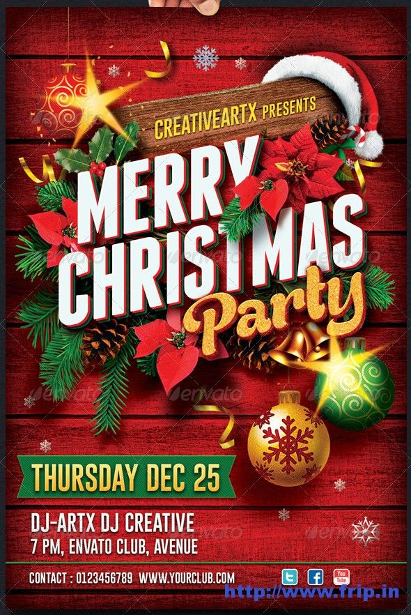 Christmas Party Flyer Template323229g 590882 Children