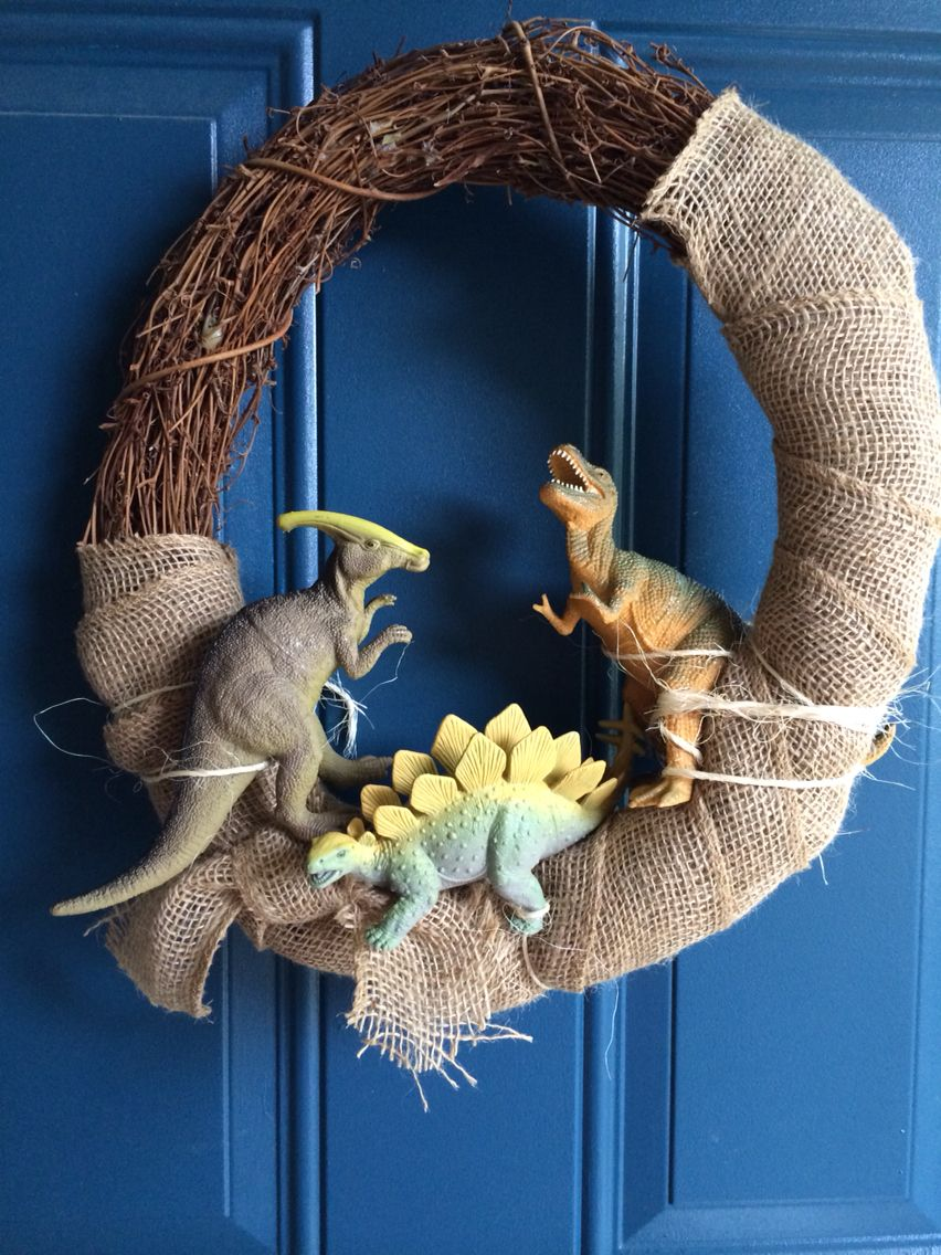 Dinosaur wreath