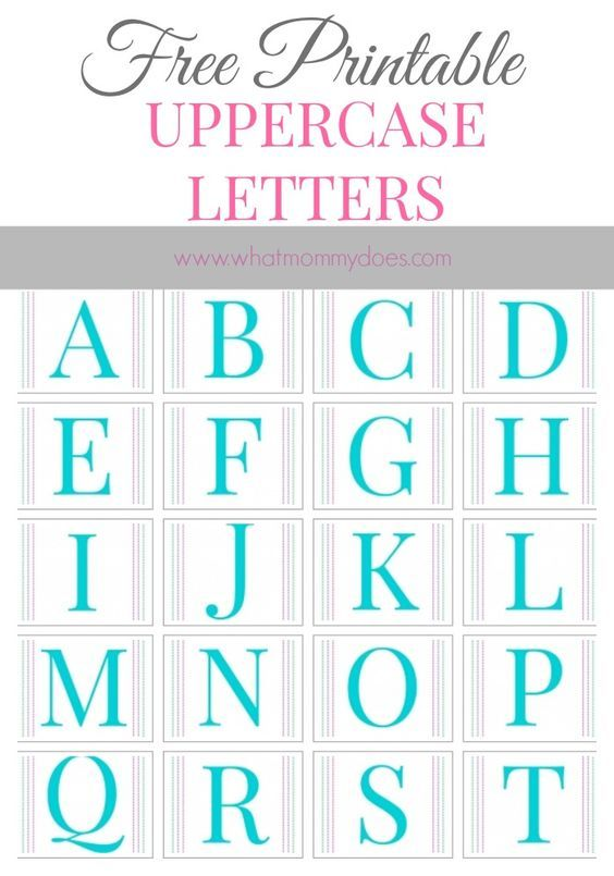 Free printable alphabet letters a to z large printable letters these large printable letter templates are such a cute option for preschool alphabet practice i spiritdancerdesigns Image collections