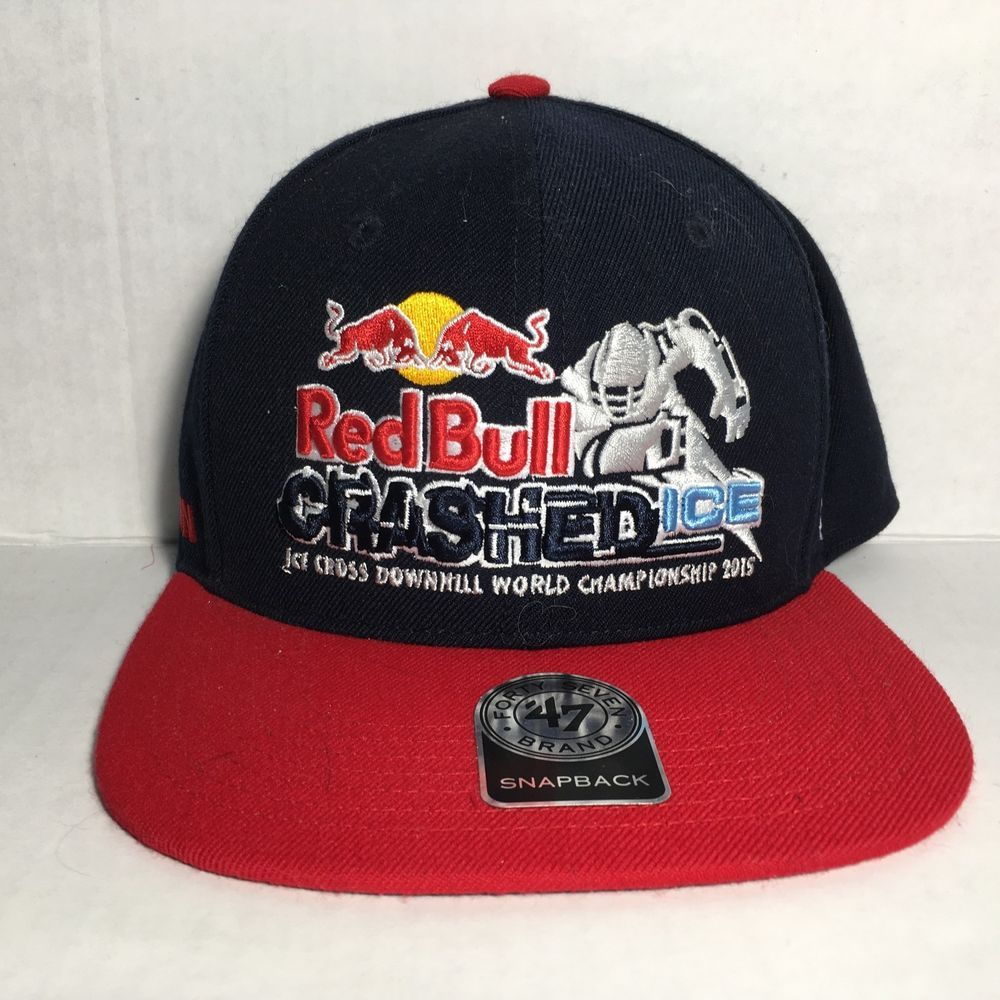 Vintage Snapback Trucker Hat Red Bull Crasher Ice  fashion  clothing  shoes   accessories  mensaccessories  hats (ebay link) 4189abb907e