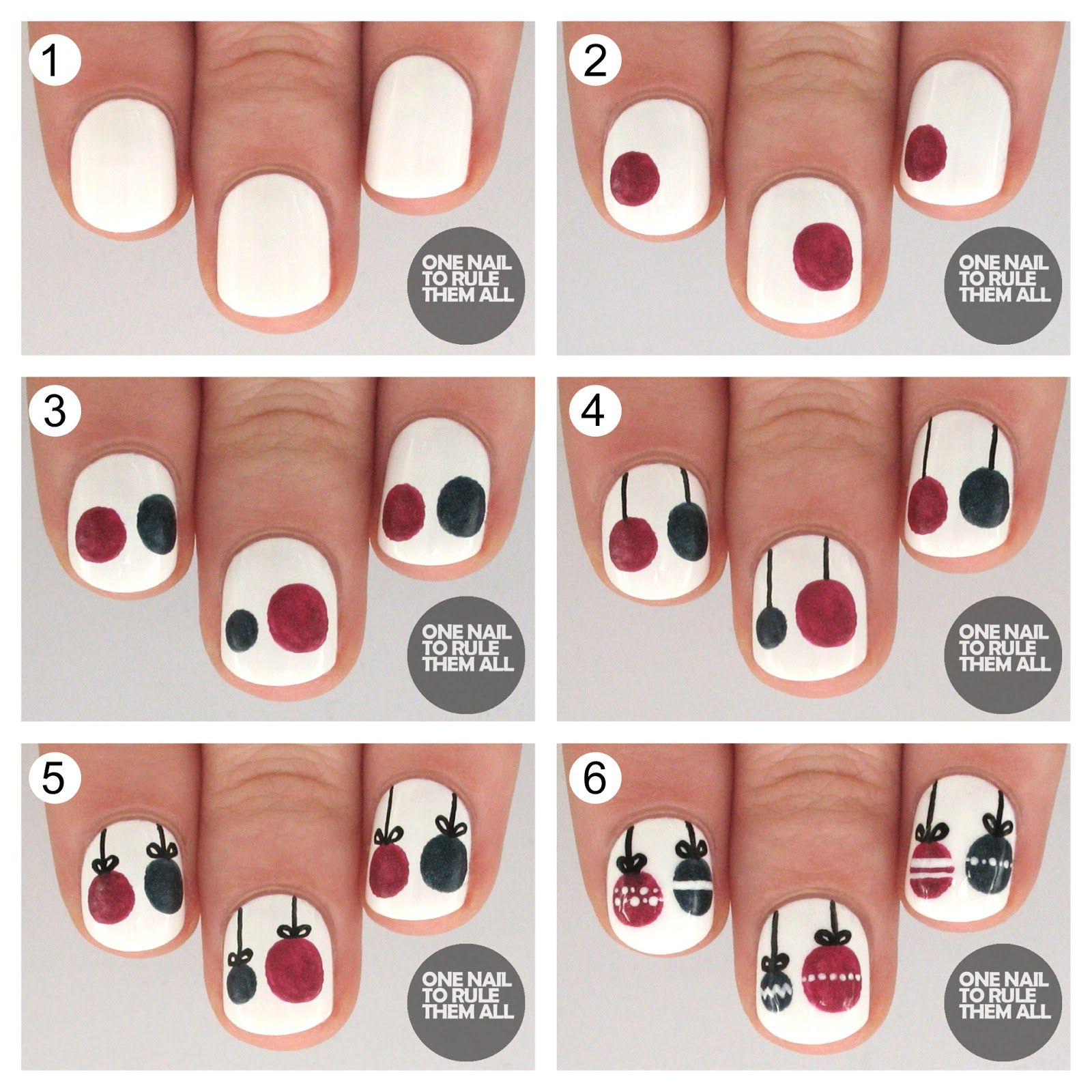 Easy Christmas Nail Art Step By Step: Tutorial Tuesday: Christmas Baubles For Barry M (One Nail