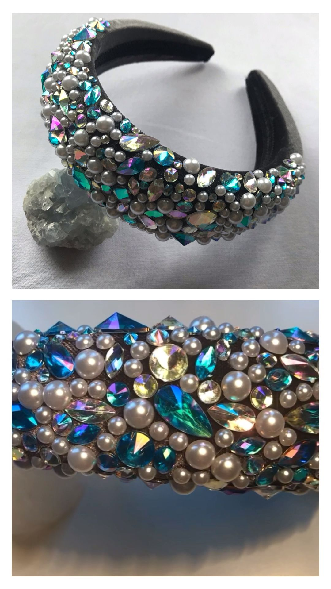 Frozen | Embellished Padded Headband Crown | Handmade