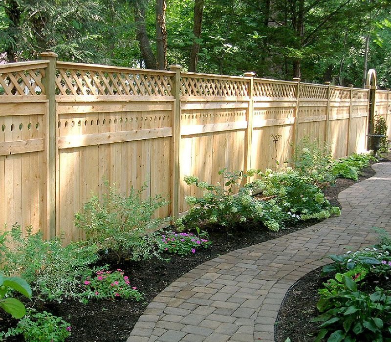 White Cedar Wood Privacy Fence By Elyria For The