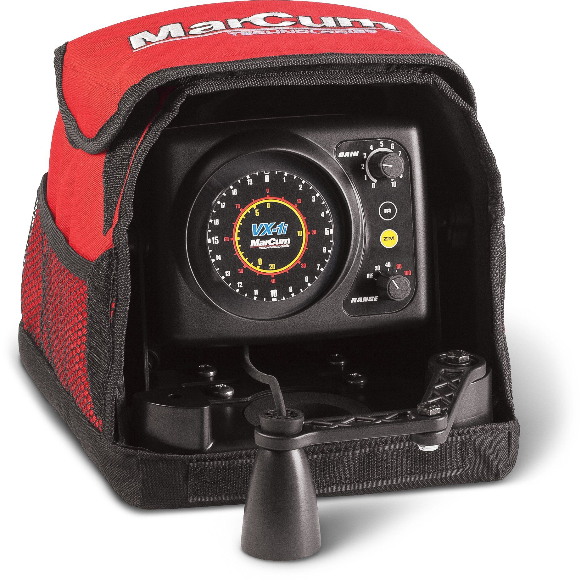 Marcum Vx-1i Sonar Flasher System Red Black Marine Electronics