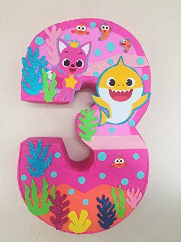 Photo of New baby shark pink number 3 pinata,   sea birthday party, baby Shark turututu, number 2 online shopping – Greatstylegreatshop