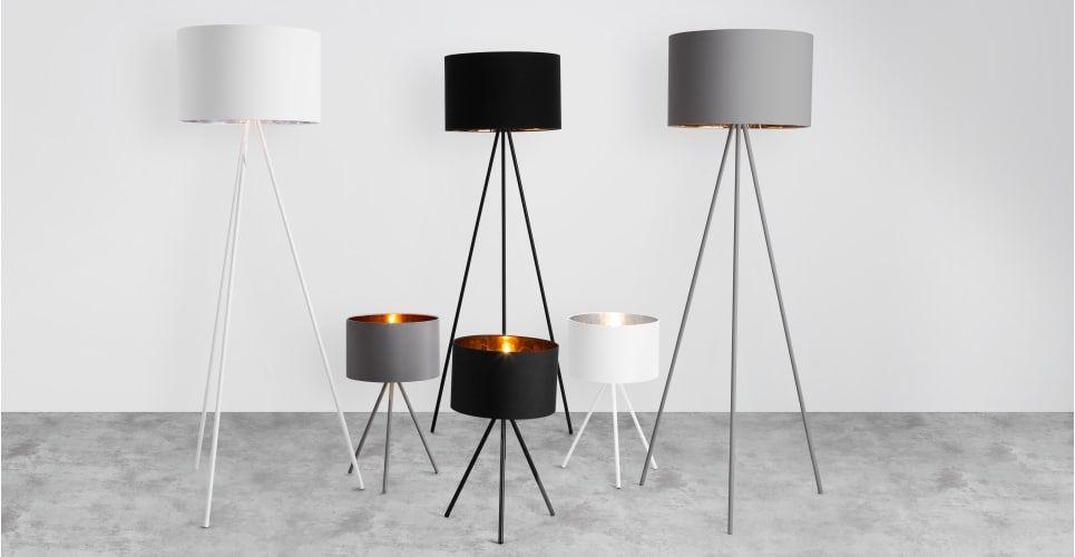 Tris Tripod-Stehlampe, Mattgrau und Kupfer | Stehlampen, Kupfer und ...