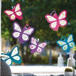 Sachenmacher Fensterbilder Schmetterlinge JAKO-O, Bastelset für 2 Stück » JAKO-O