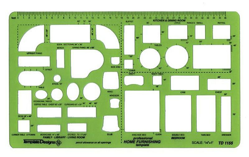 Alvin td1155 home furnishing drafting template furniture drawing alvin td1155 home furnishing drafting template furniture drawing stencil malvernweather Images