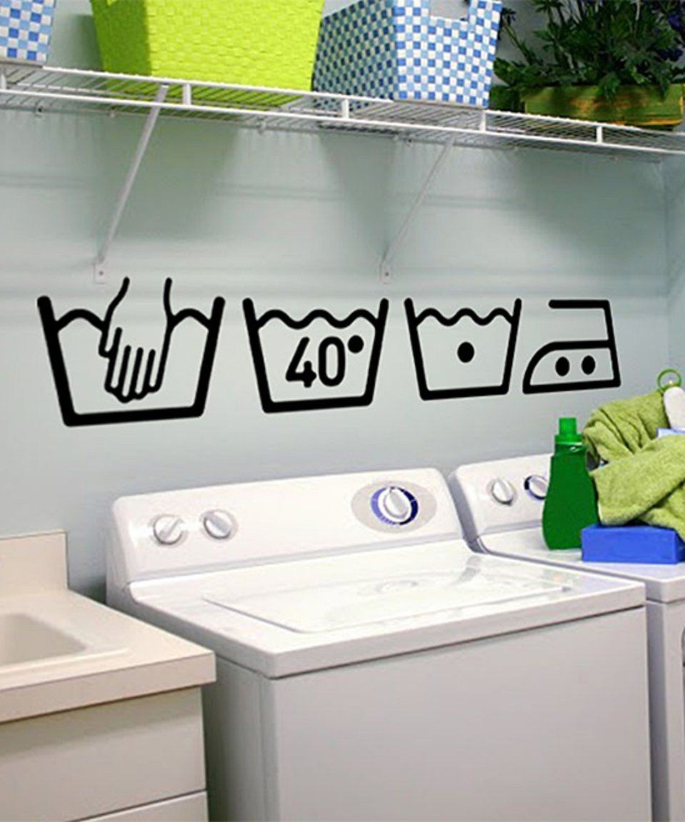 Take A Look At This Washing Machine Symbols Wall Decal Set Today Bathroom Wall Stickers Vinyl Wall Decals Wall Stickers Home Decor