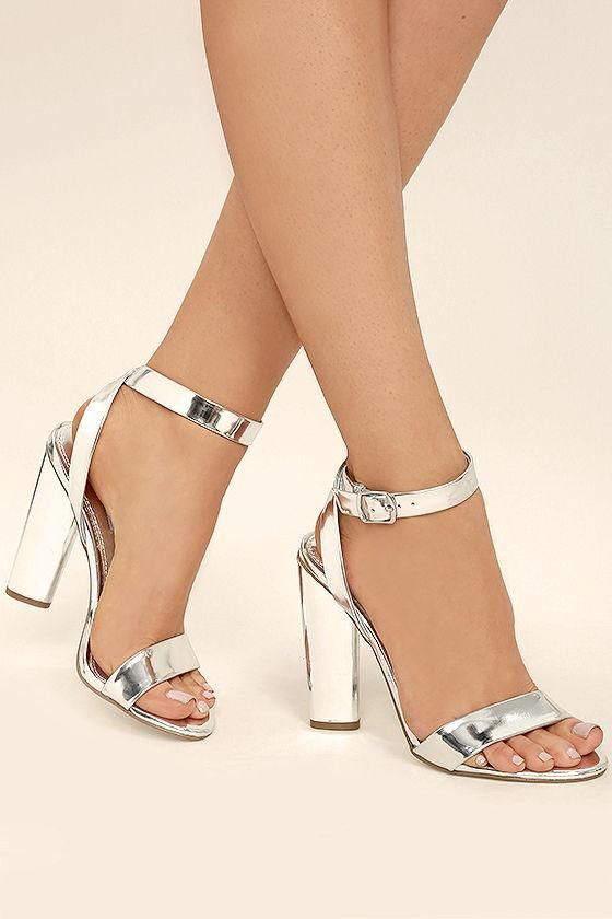 a266d9b6239 TED BAKER SECOA SILVER METALLIC LEATHER BLOCK HEELED SANDALS - SILVER.   tedbaker  shoes