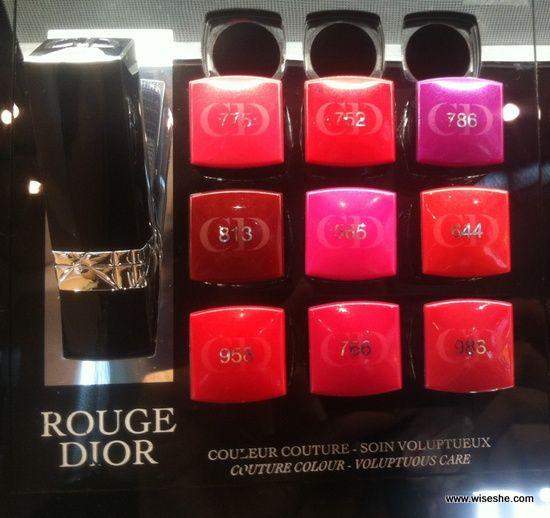 9 Dior Rouge Dior Couture Colour Voluptuous Care Lipsticks ...