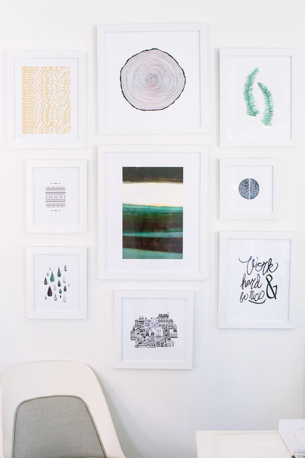 How to Create a Gallery Wall with Minted | Marcos cuadros, Marcos y ...