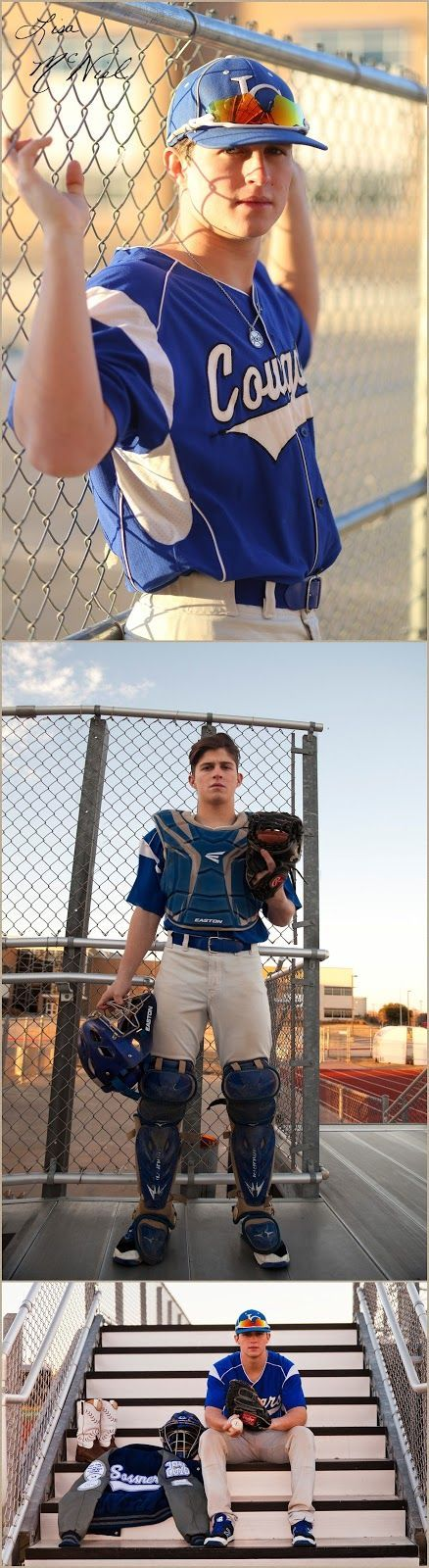 Senior Pictures of a Handsome Texas Baseball Catcher by