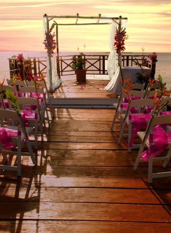 Rustic Sunset Beach Wedding Decoration Photo Shoot Arch Decor 2014