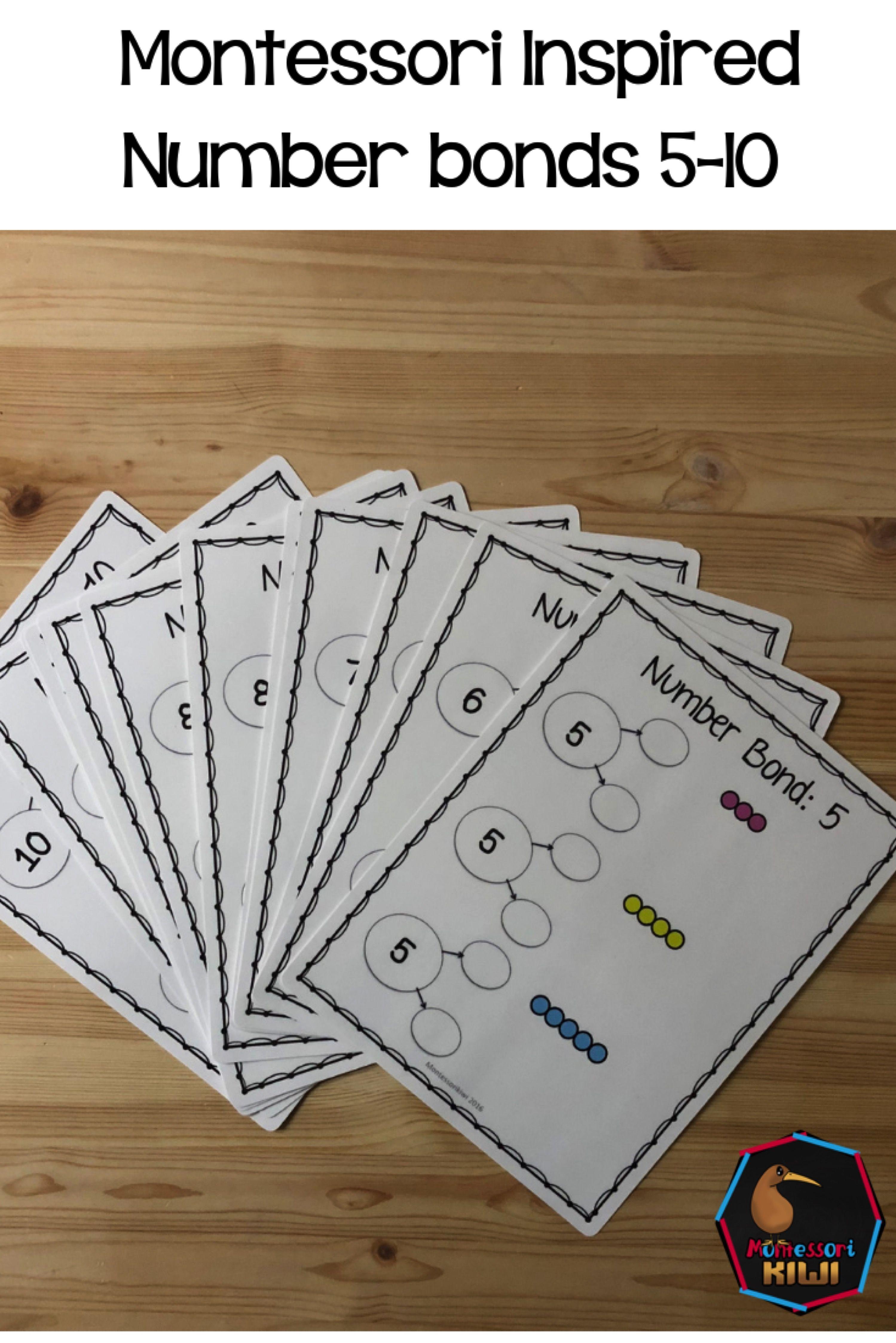 Montessori Number Bonds To 10