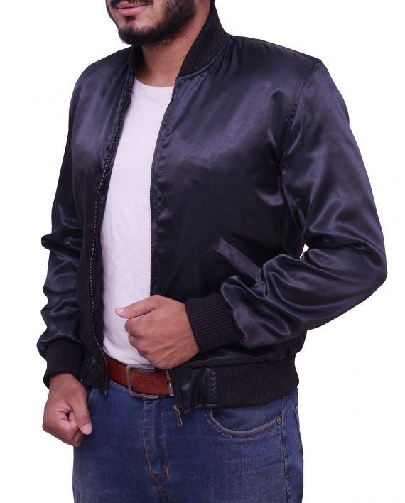 Rocky Ii Tiger Logo Satin Jacket Sylvester Stallone Rocky 2 Tiger