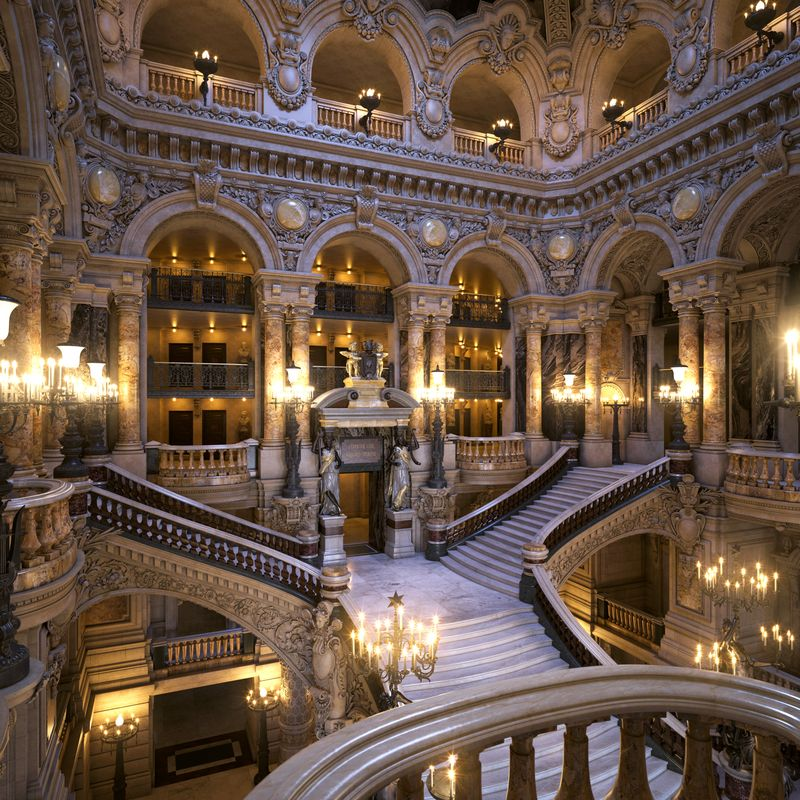 Opera Garnier - Grand Staircase 3D model   Paris opera house, Opéra  garnier, Opera garnier paris