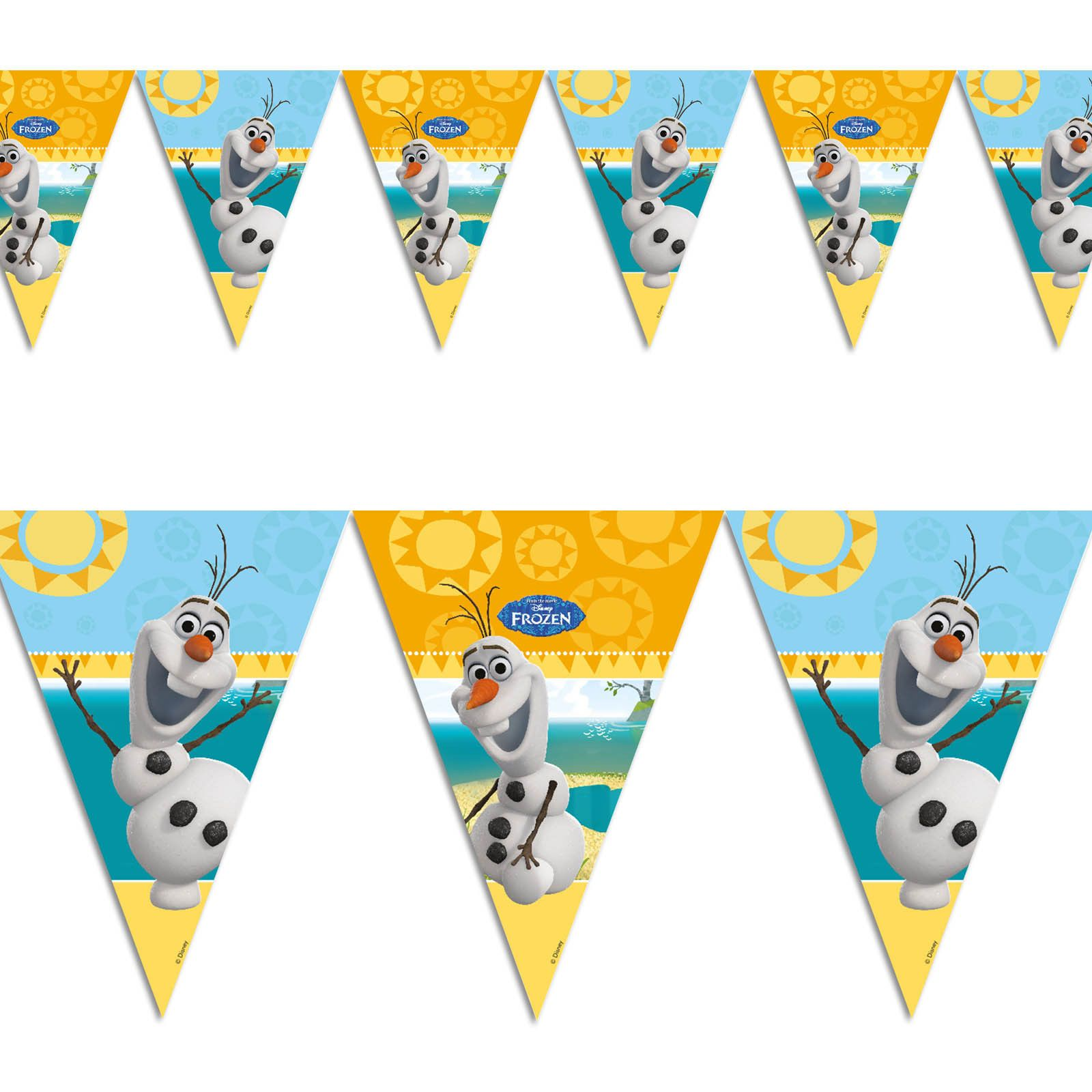 M disneyus frozen summer olaf snowman party pennant flag banner