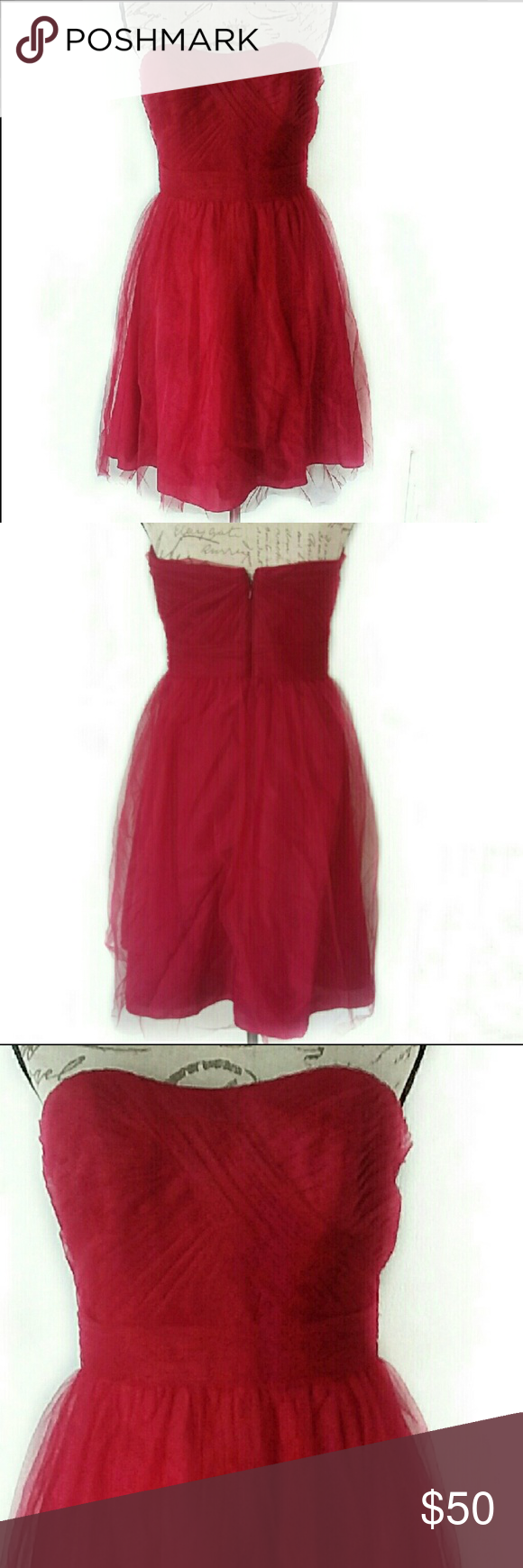 Short prom dress david bridal dark red size my posh picks