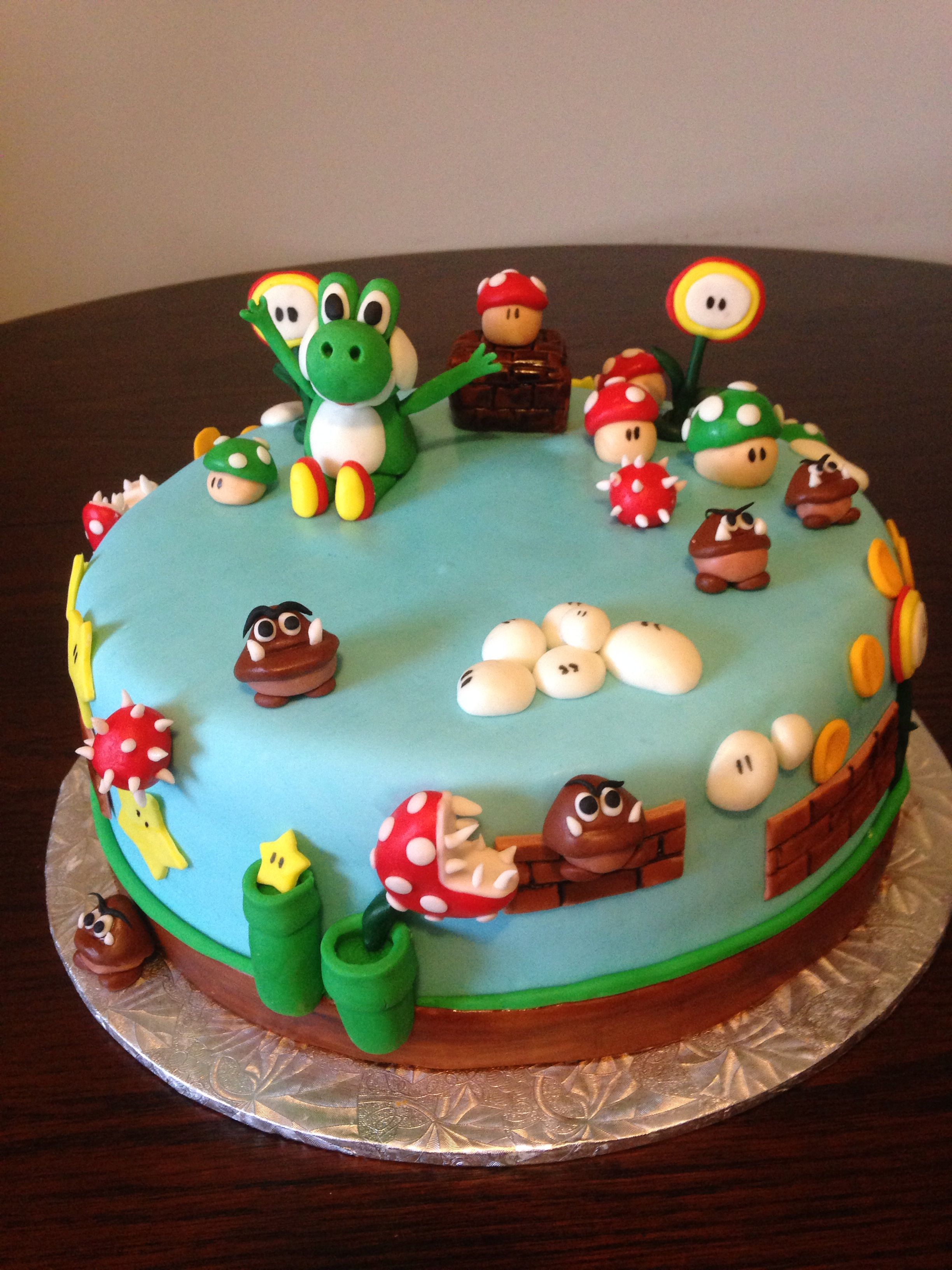 super mario yoshi cake my cakes pinterest. Black Bedroom Furniture Sets. Home Design Ideas