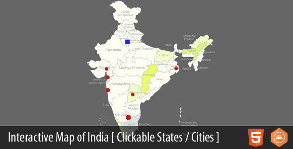 Interactive Map of India | WordPress | Pinterest | India map ...