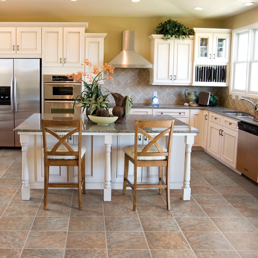 Style Selections 13 In W X 4 27 Ft L Sierra Slate Embossed Laminate Tile And Stone Planks At Lowes