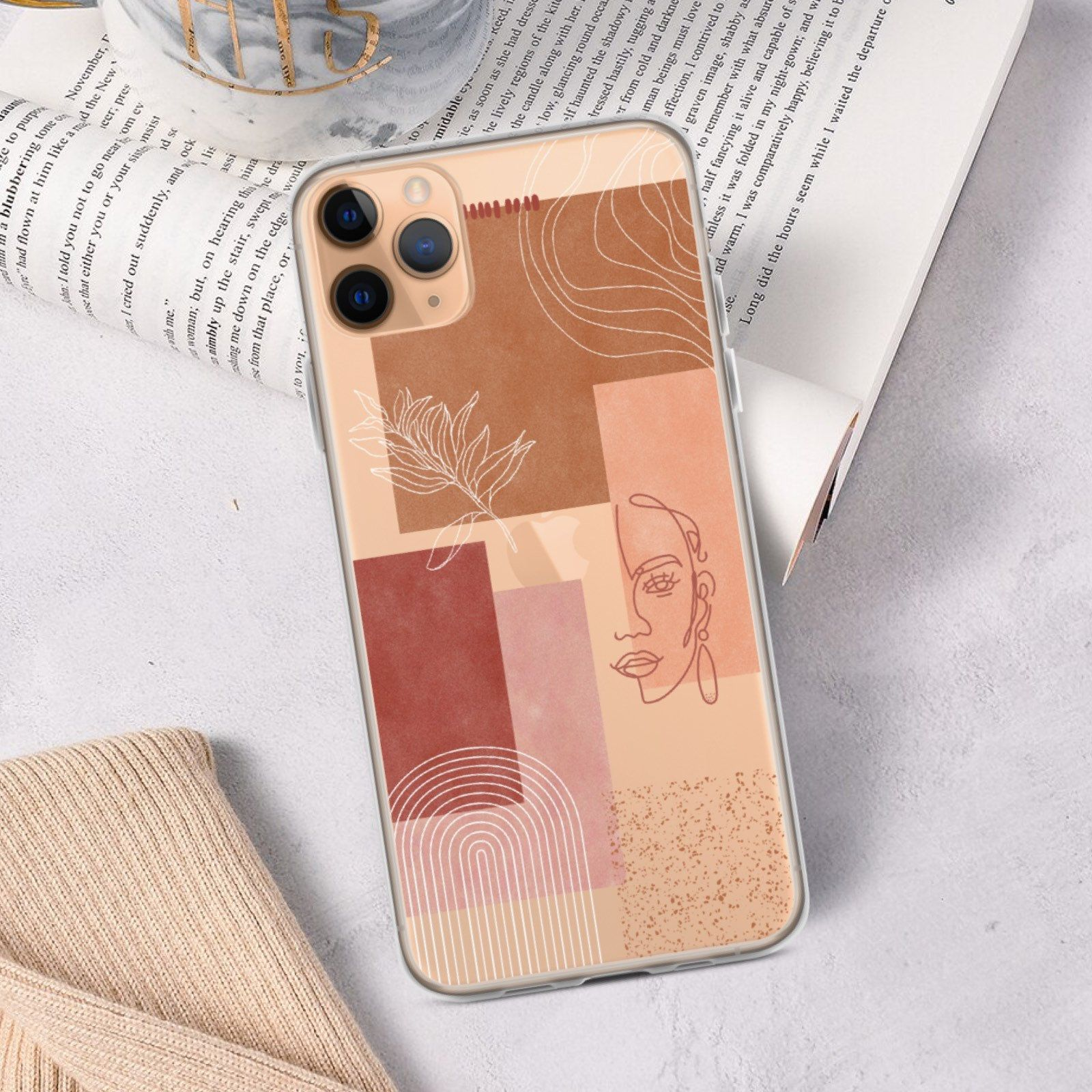 Aesthetic abstract iphone case clear phone case for iphone