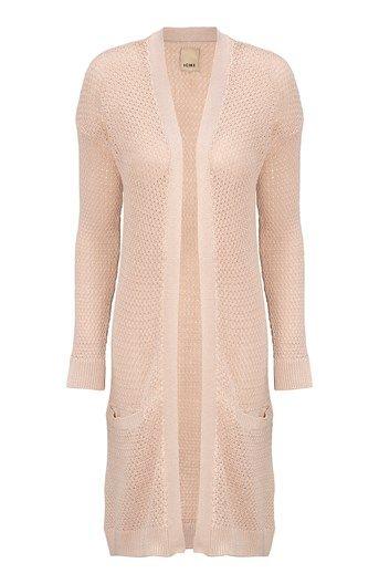 Mega seje ICHI Cardigan Malulu St?vet rosa fra Halens ICHI Overdele til Outlet i dejlige materialer