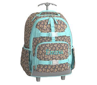 Rolling Backpack, Mackenzie Gray Glitter Cheetah | *Backpacks ...