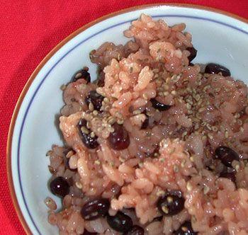 Osekihan 3 cups of sweet (sticky) rice 1/2 cups azuki ...
