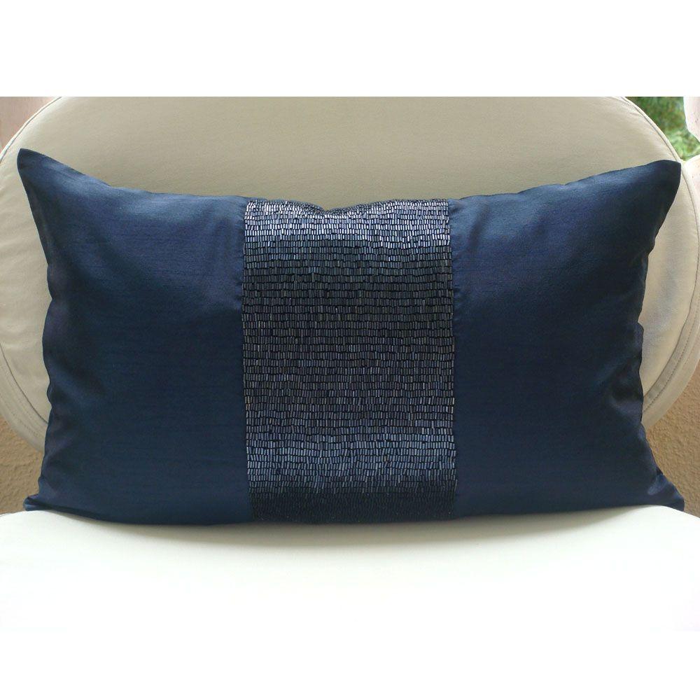 Blue Velvet Pillow Cover Sequins Pillow