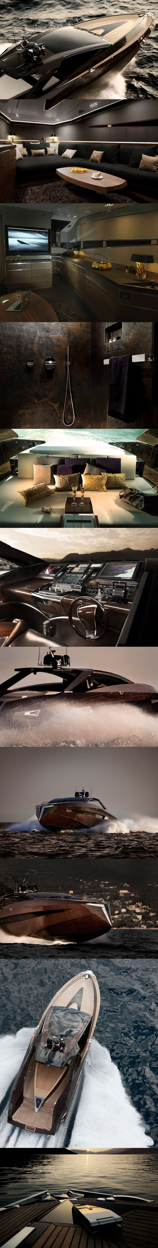 Art of Kinetik Hedonist #Yacht #luxury by Portal S