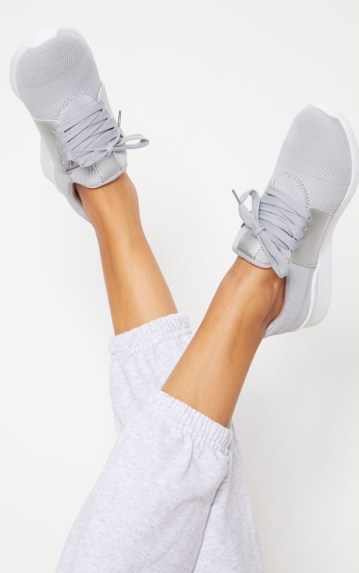 Grey Knitted Trainers in 2020 | Grey