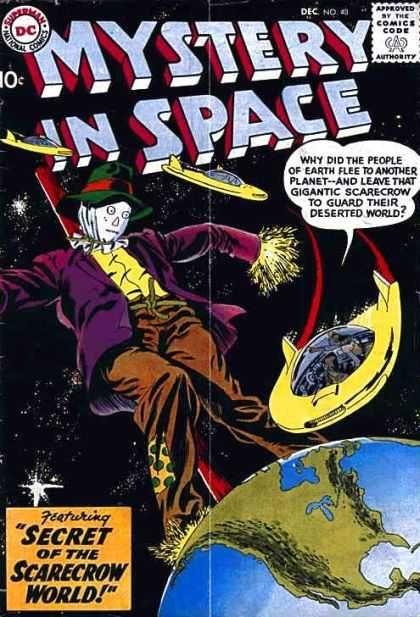 Comics Code Authority - Dc - Speech Bubble - Scarecrow - Earth