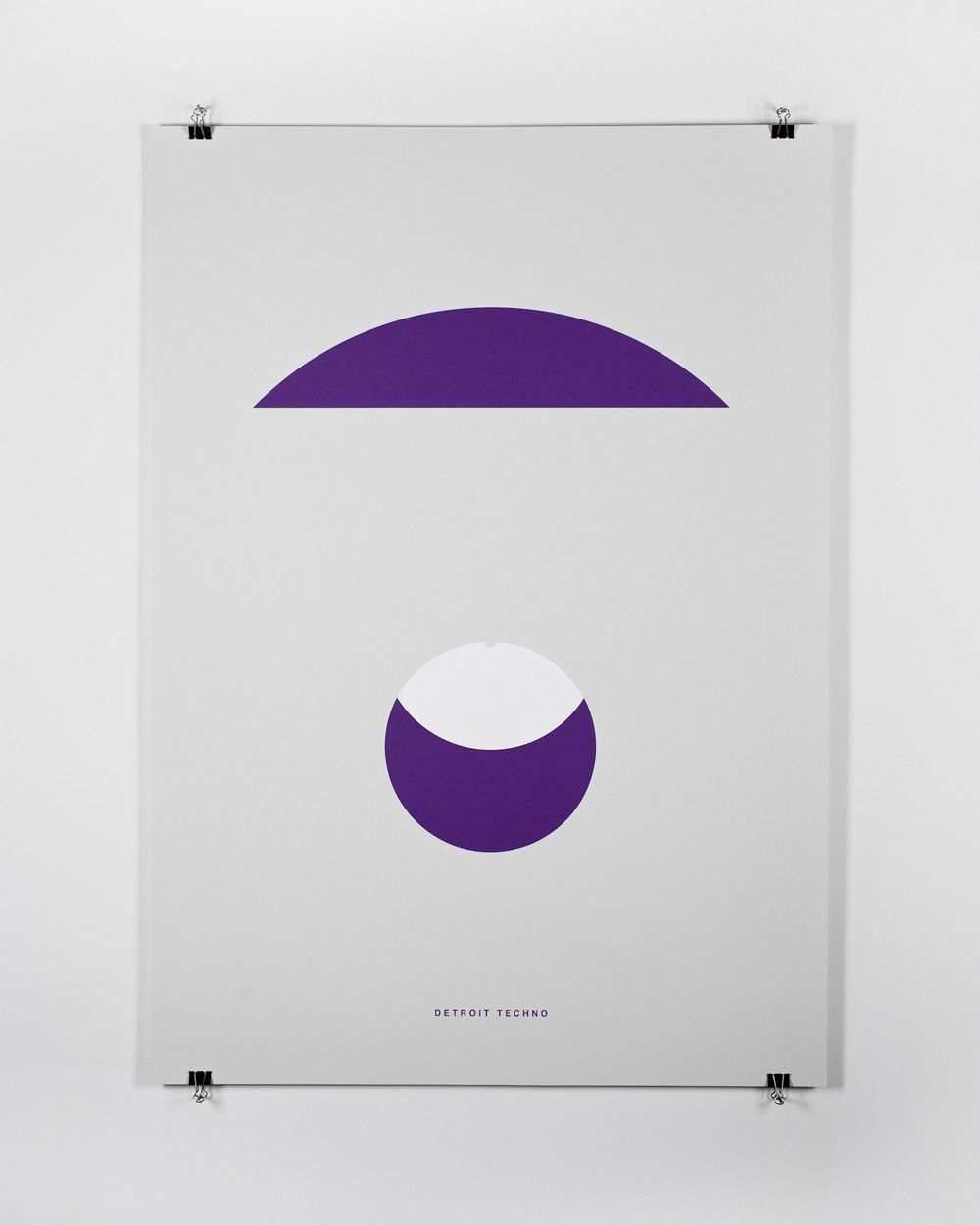 Edits by Edit - A poster series curated by Edit — each designer was asked to represent a musical genre using one shape and one type (stating the genre).