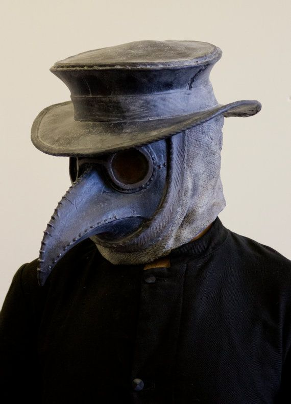 1282ed965ce33 Traditional Plague Doctor mask with hat by Ministryofmasks on Etsy