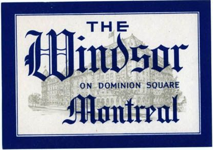 The Windsor Luggage Decal - 1950