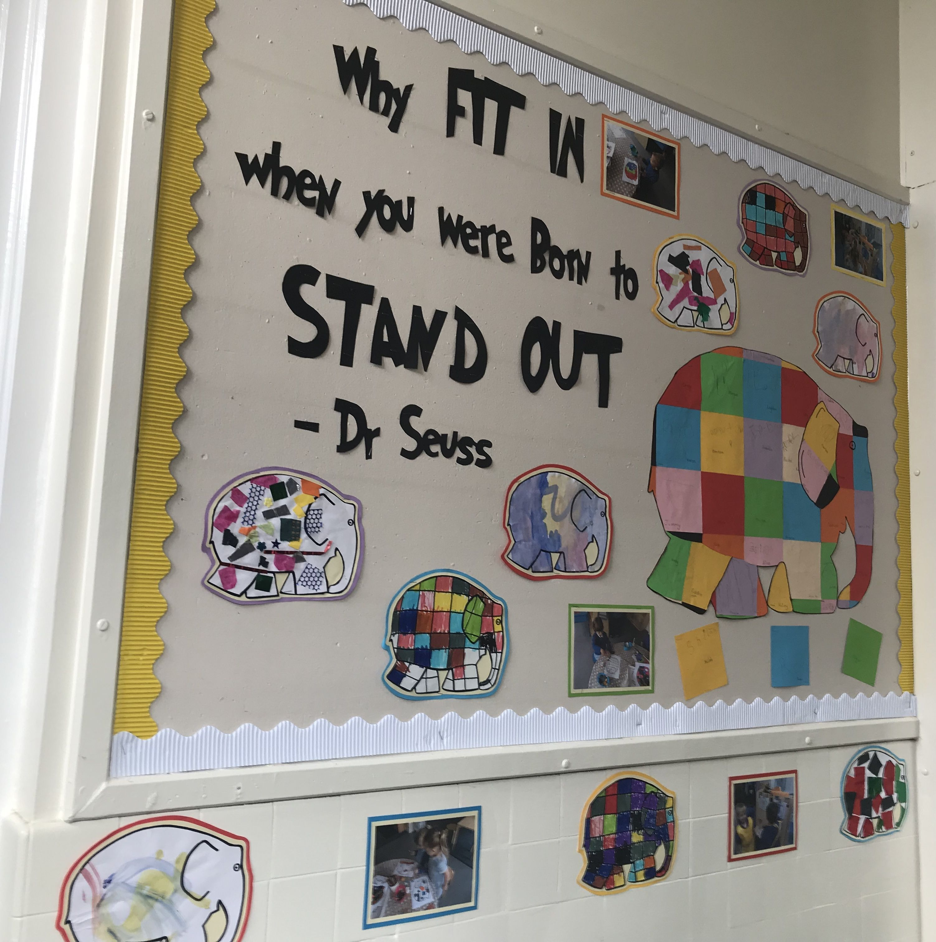 Elmer Display Eyfs Dr Seuss Born To Stand Out