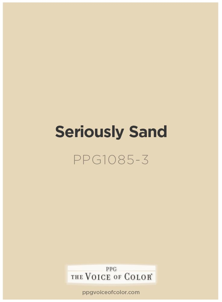 sand paint colorCheck out Seriously Sand a part of the Yellows collection by PPG