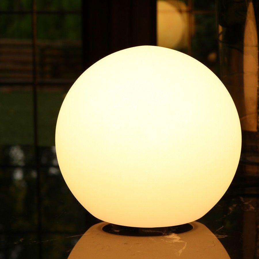 Modern Led Table Lamp 25cm Orb Ball Light White E27 Bulb Installed Sphere Light Ball Lights Led Table Lamp