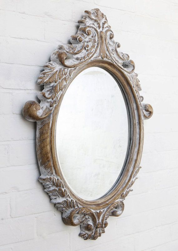 Stunning Carved Wood Effect Framed Mirror By Handcraftedmirrors 60 00 With Images Ornate Mirror Vintage Mirrors Mirror Frames