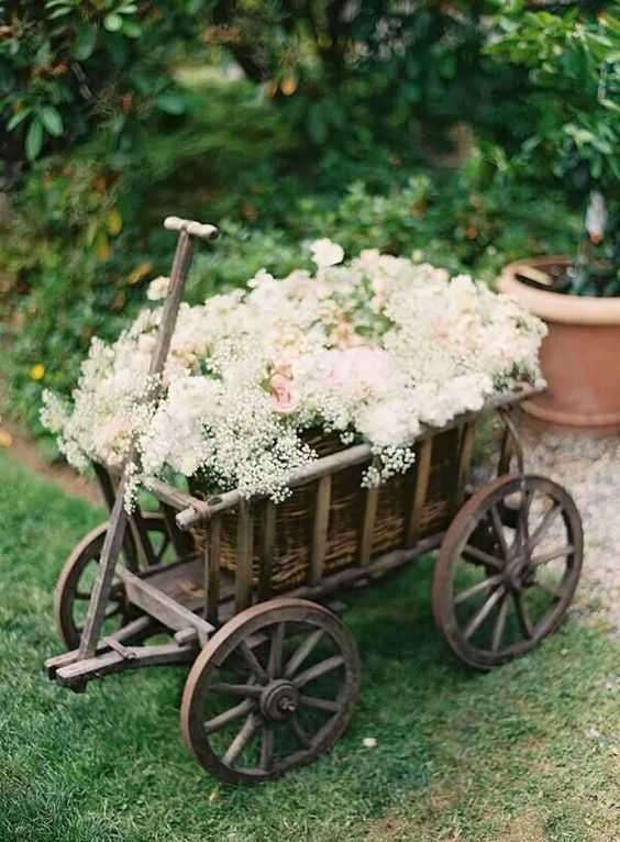 Wooden Wagon For Wedding For Babies 4 Yrs And Younger Ring Etsy Wagon For Wedding Wheel Decor Wooden Wagon
