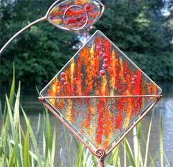 Fusing Glas Objekte Fur Den Aussergewohnlichen Garten Schmelzglas Glas Objekte