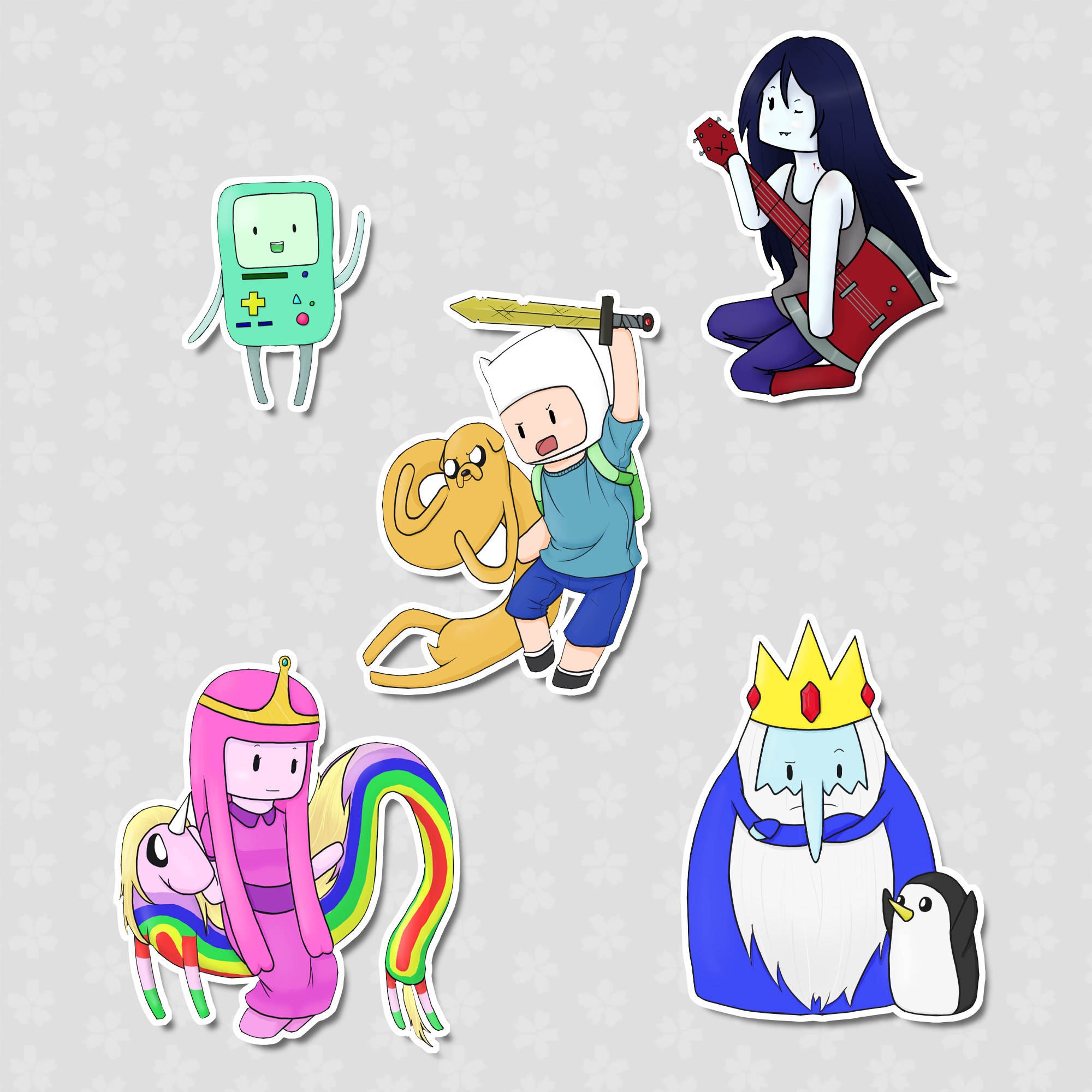 Adventure Time Sticker Set In 2020 Adventure Time Sticker Set Jake The Dogs
