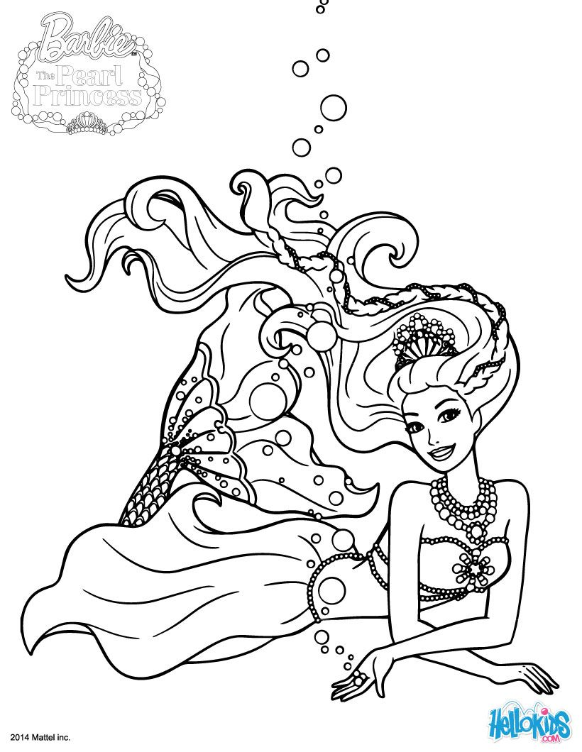 Barbie colouring in online free - Barbie Plays Lumina Barbie Printable