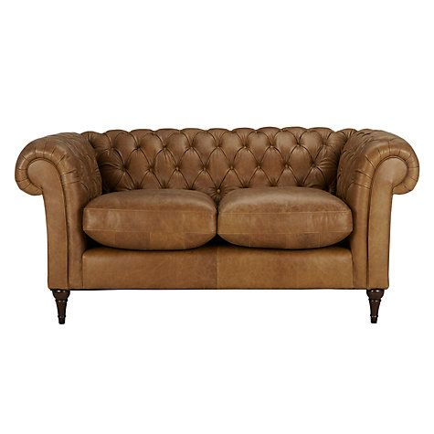 Buy John Lewis Cromwell Chesterfield Leather Small 2 Seater Sofa Dark Leg John Lewis Small Couch 2 Seater Sofa Sofa