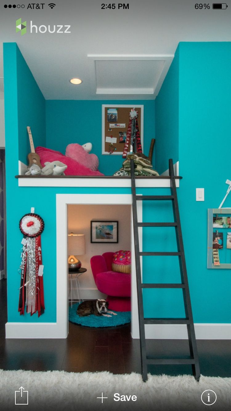 Small loft bed ideas  Any little girl wold love this loft  me gusta  Pinterest  Lofts