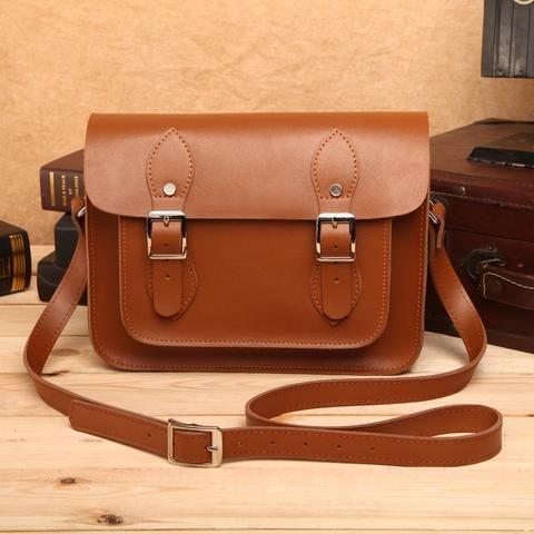 British retro leather shoulder messenger bag packet tide spring and summer handbags